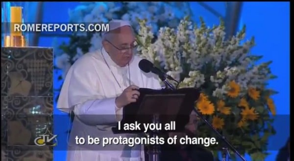 Pope to Youths_ Don't see life from afar. Just like Jesus did, take action! (2)