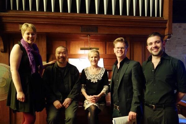 Anna Sandstrom, Soprano: Tim Chung, Alto; Christine Moriarty, Organist; Pascal Herington, Tenor; Javier Vilariño, Bass