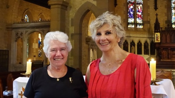 Sr Margaret Beirne RSC and Caroline Coggins, Chair of the St Canice's Parish Pastoral Council