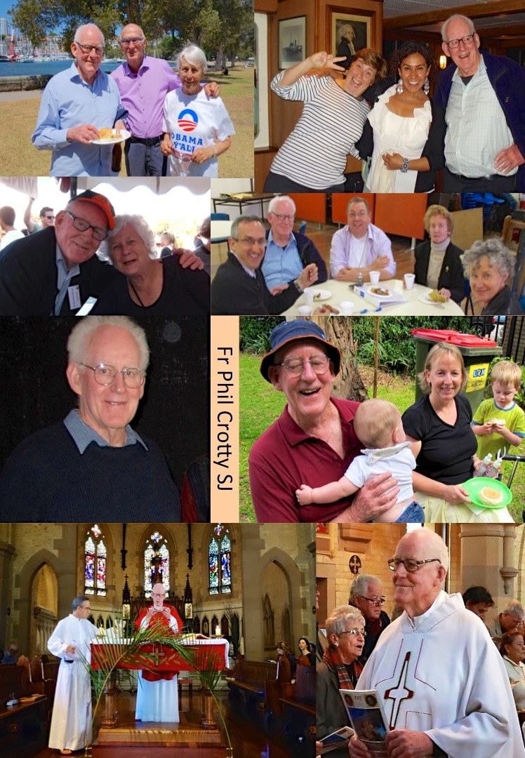 Montage of photos of Fr Phil's years at St Canice's