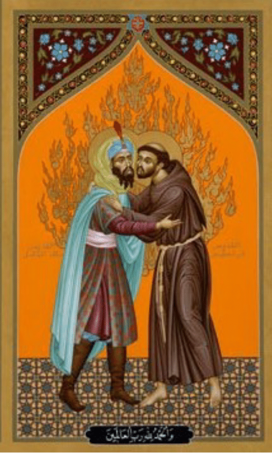 St Francis of Assisi and Sultan Malik-al-Kamil parted as brothers